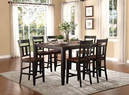 Two Tone Dining Room by Homelegance Westport Counter Height Dining Set Two Tone Black
