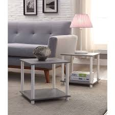No Coffee Table Living Room Mainstays No Tools Single Cube Storage Shelf Side Tables Set Of 2