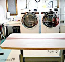 homeroad grain sack striped laundry folding table