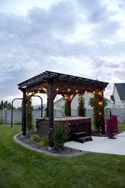 Creative Brick Patio Design With Pergola Tub Seat Walls And by 17 Best Images About Tubs On Pinterest Creative Mosaic Wall