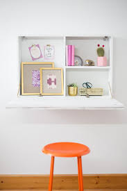 how to build a wall mounted fold down desk room makeovers to