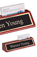 Desk Name Plates With Business Card Holder Office Name Plates Desk Name Plaques Quicktrophy