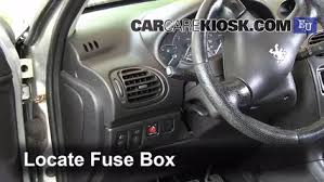 interior fuse box location 2000 2005 peugeot 206 2004 peugeot