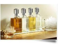 liquor decanter contemporary buffet bar set