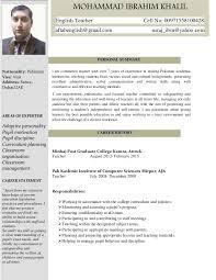 Sample Resume English Teacher by English Teacher Cv