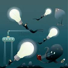 Levitating Light Bulb by Lightbulb Concept Of Floating Ideas At Bottom Of The Ocean Bed