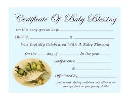blessing baby free printable baby blessing certificate trulytruly net baby