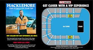 ticketmaster floor plan tickets macklemore gemini tour auckland nz at ticketmaster