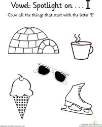 things that start with i vowel spotlight worksheet education com