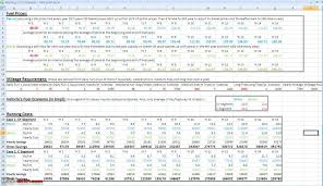Gas Mileage Spreadsheet Attached Fuel Cost Calculator Including A Comparison Between