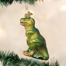 world t rex glass blown ornament home