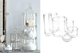 glass bathroom jars u2013 bathroom ideas