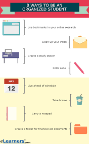 8 ways to be an organized student get ahead