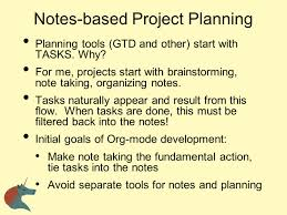note taking and project planning ppt download