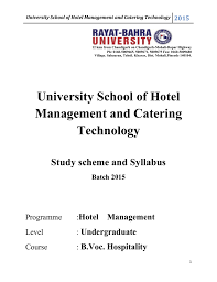 bv 1204 hotel management u0026 catering technology