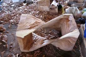 sustainable wood carvings twist stools twist stool