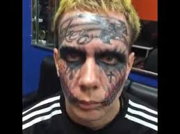very crazy tattoo joker face youtube