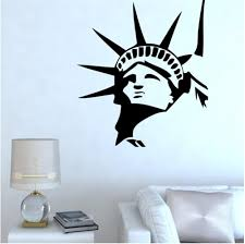 compare prices on liberty cartoon online shopping buy low price statue of liberty new york wall decal sticker home decor vinyl art living room