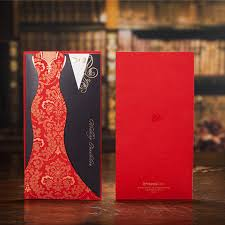 Card For Wedding Invites Typical Asian Red Black Panelled Wedding Invitations Cards Dress