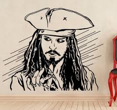 online get cheap pirate wall decal aliexpress com alibaba group captain jack sparrow wall decal pirate movie vinyl sticker poster art nursery children room mural home