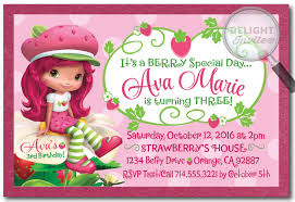 custom birthday invitations strawberry shortcake birthday invitations the new strawberry