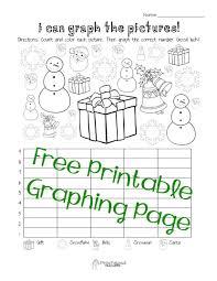 kindergarten christmas bar graph worksheet printable worksheets