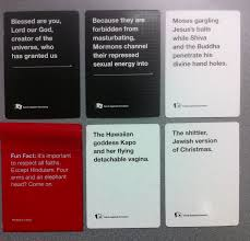 the most blasphemous cards against humanity cards yet friendly