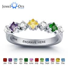 personalized wedding jewelry personalized wedding jewelry colorful birthstone engrave names