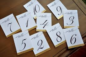 what size are table number cards table numbers for wedding gold 1 10 or more cursive table number