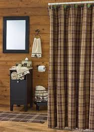 Rustic Bathroom Shower Curtains New Primitive Country Cabin Rustic Bath Black Plaid Fabric