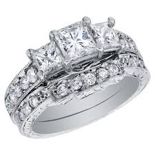 wedding rings women three princess cut diamond rings back to post wedding rings for