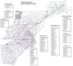Map From Boston To New York by Trace Your Ancestry With Kings Highway