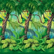 jungle trees backdrop birthdayexpress