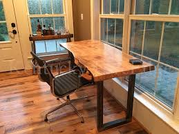 Rustic Wood Desk Your Custom Desk Live Edge Desk Industrial Desk Rustic Desk