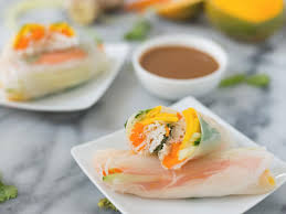 recipe mango spring rolls with ginger peanut sauce food network
