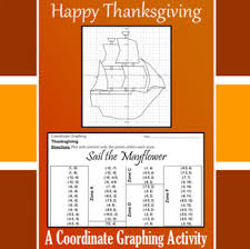 thanksgiving sail the mayflower a coordinate graphing activity
