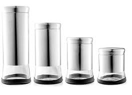 black kitchen canisters kitchen canisters black and silver