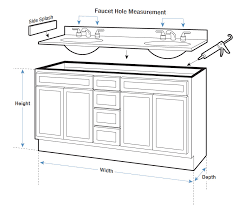 Installing New Bathroom Vanity Vanity Tops Buying Guide Hayneedle Com