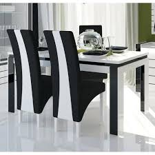 chaise noir et blanc chaise noir et blanc design cdiscount table salle a manger