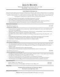 Engineering Technician Resume Sample by Service Technician Resume Examples