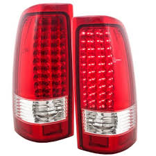 chevy silverado tail lights chevy silverado 2500 2003 2004 led tail lights red clear