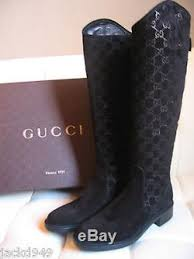 gucci womens boots uk gucci womens black leather suede zip guccissima knee boots