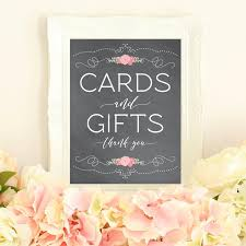 wedding gift table sign cards and gifts printable gift table sign card table sign