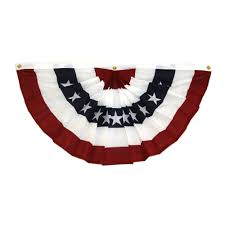 in the usa 36 white and blue american flag fan bunting