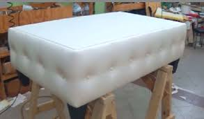 Diy Reupholster Ottoman by How To Make A Coffee Table With Buttons Alo Upholstery Youtube