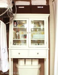 antique white over the toilet cabinet best home furniture decoration