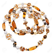 necklace from beads images Necklace from beads of brown agate stones hematite mineral jpg