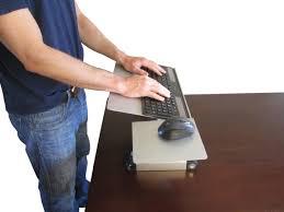 Standing Desk For Laptop by Uncaged Ergonomics Wektb Workez Keyboard Tray U0026 Mouse Pad