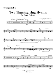 two thanksgiving hymns trumpet 2 sheet for piano and