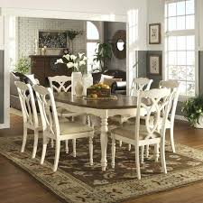 two tone dining table set country antique two tone white extending dining set by two tone